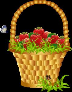 клубника в корзине