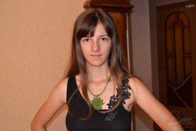 Альбом пользователя Юленька_Лебедь: Кулон зелёный треугольник10.JPG