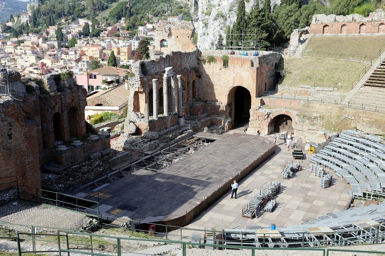 Taormina. The ancient theatre (Teatro Antico di Taormina)