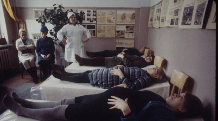 Палата детской больницы. Москва, 1970-е годы.
