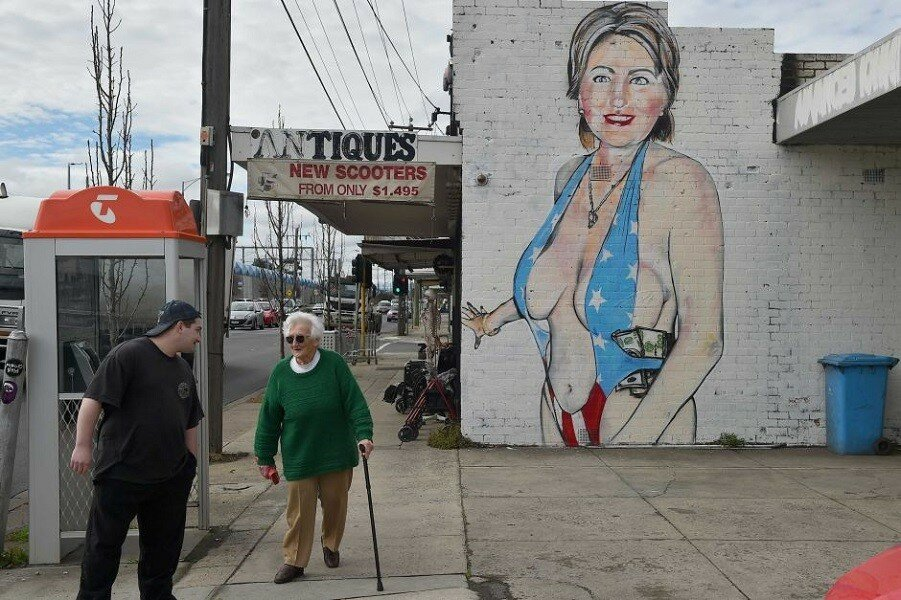 Хиллари Клинтон в никабе