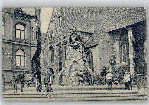Flensburg Bismarckbrunnen 1907 AK Kinder