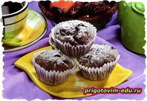 Шоколадно-мандариновые маффины