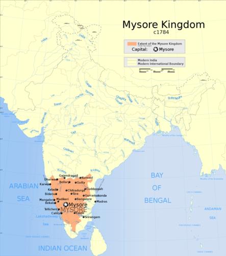 Княжество Майсур, 1784 год