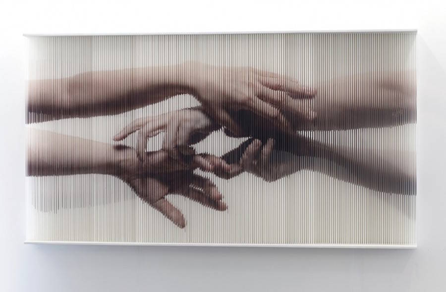 Realistic Pictures of Hands Created with Strings