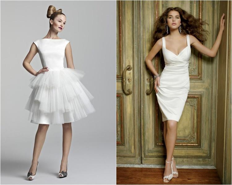 короткие свадебные платья 2016 фото 12