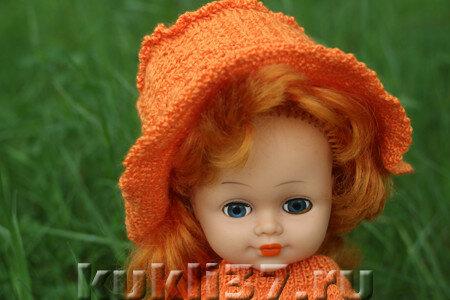 оранжевая шляпка с полями