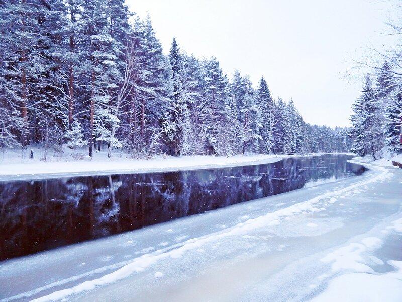 Наступает лёд на речку