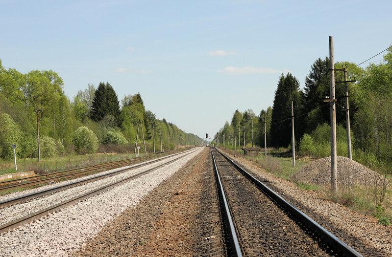 Станция Паникля, вид на Ржев