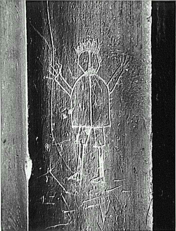 1933. Граффити. Серия IX Примитивные образы