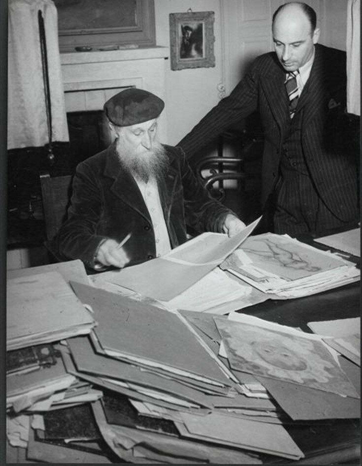 1937. Аристид Майоль и его сын Люсьен в Марли-ле-Руа