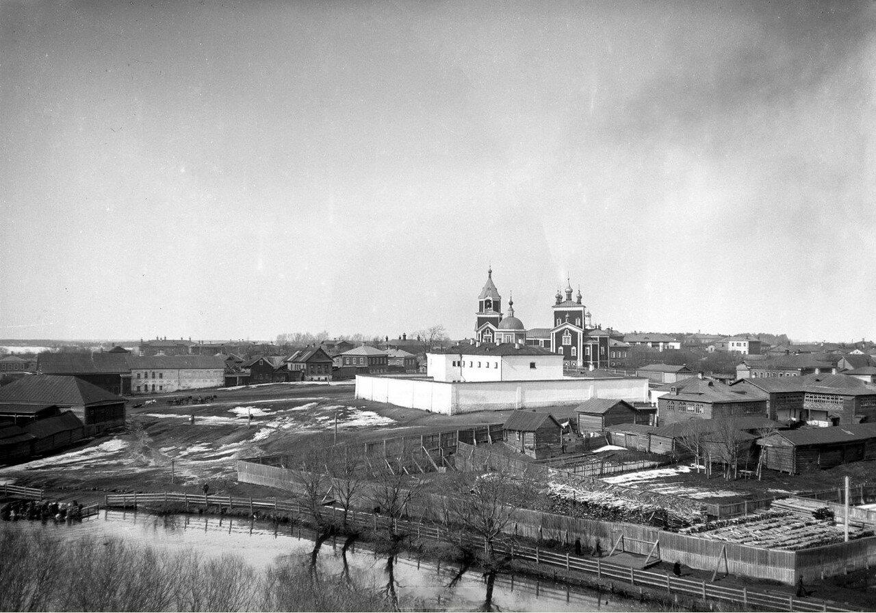 1890-е. Егорьевск. Вид на город и Георгиевский собор