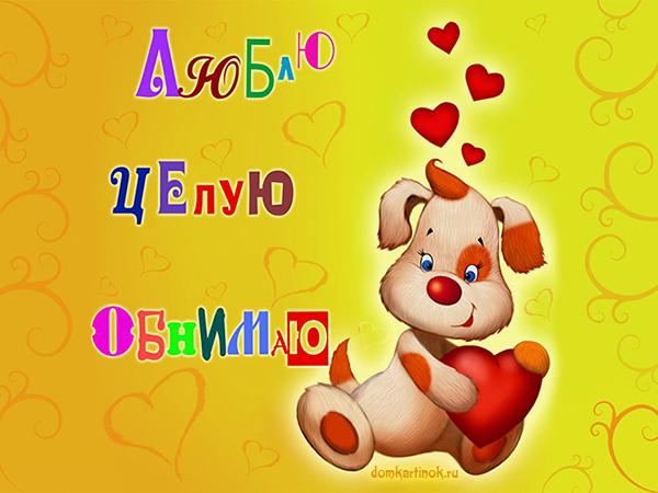 Фото и картинки с надпияси Я люблю тебя в domkartinok.ru