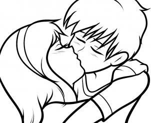 Подростки целуются