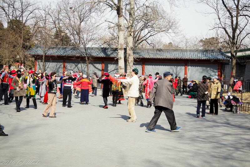 Развлечения китайских пенсионеров