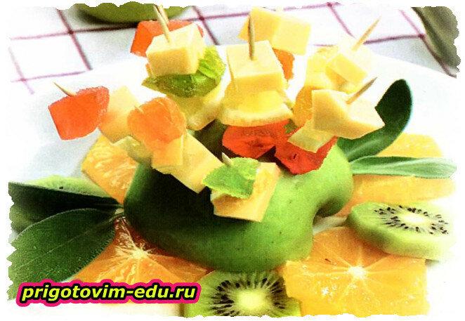 Сладкая закуска «Яблочный ежик»