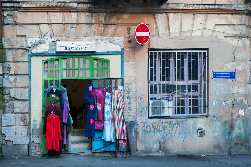 old vintage clothing for sale near the antic shop