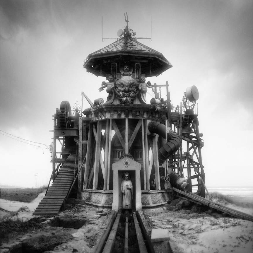 Sinister Architecture Constructed from Archival Library of Congress Images by Jim Kazanjian