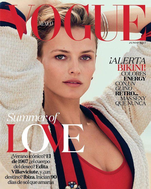Edita Vilkeviciute & Lusiana Gonzalez Cover Vogue Mexico June 2017 Issue