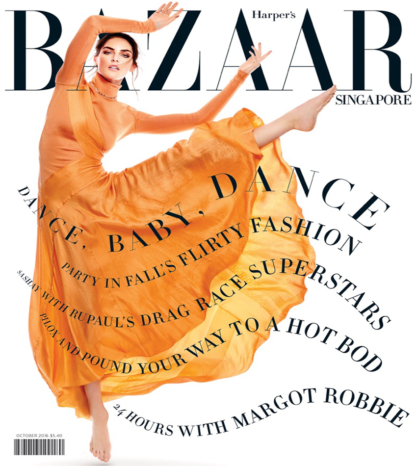 Hilary Rhoda by Yu Tsai for Harper's Bazaar Singapore October 2016