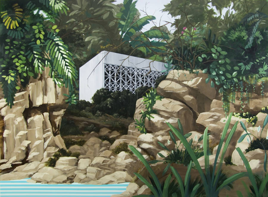 Outstanding Villas and Landscapes Acrylic Paintings by Dean Monogenis