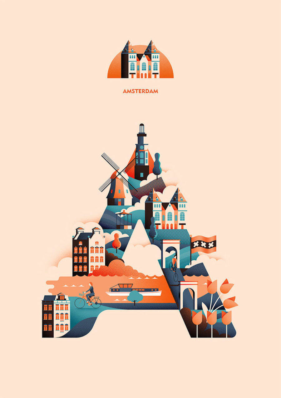 Creative Alphabet Based on Cities Around the World