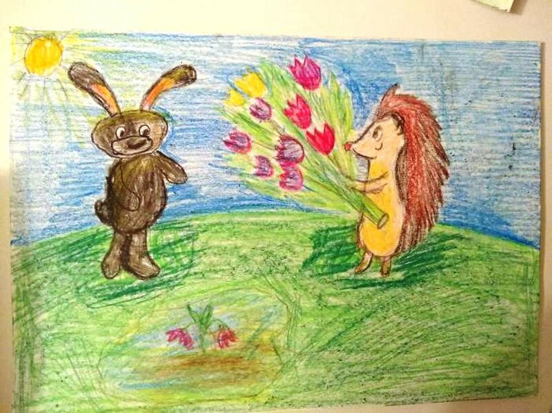 С праздником Весны! - Клочков Иван, 8 лет, Тема -- Рисунок, г. Луховицы.jpg