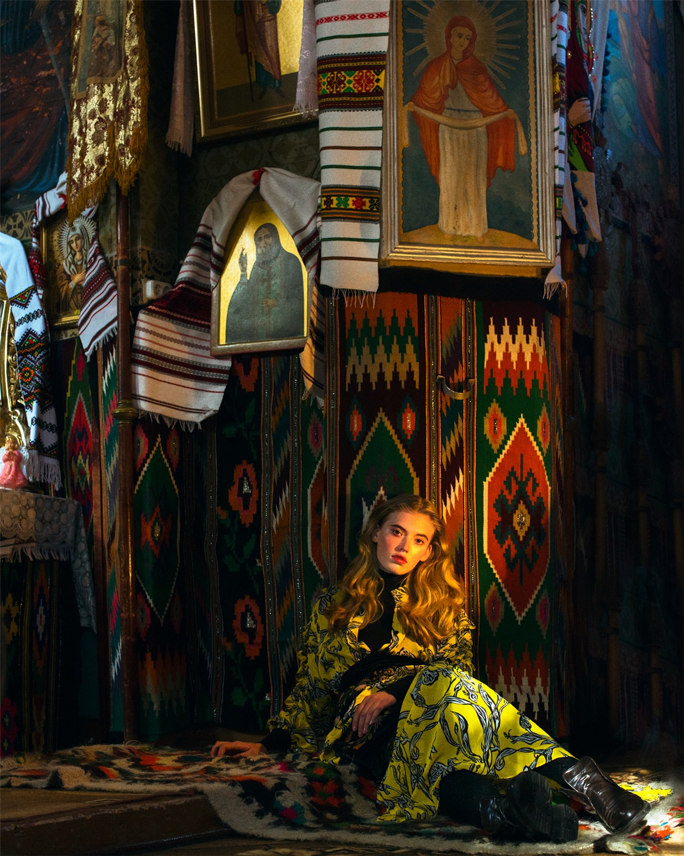 Nika Rusakova, Kristina Abibulaieva, Vita Filonenko, Alexander Wolf by Elizaveta Porodina - Malanka / Vogue Ukraine january 2017