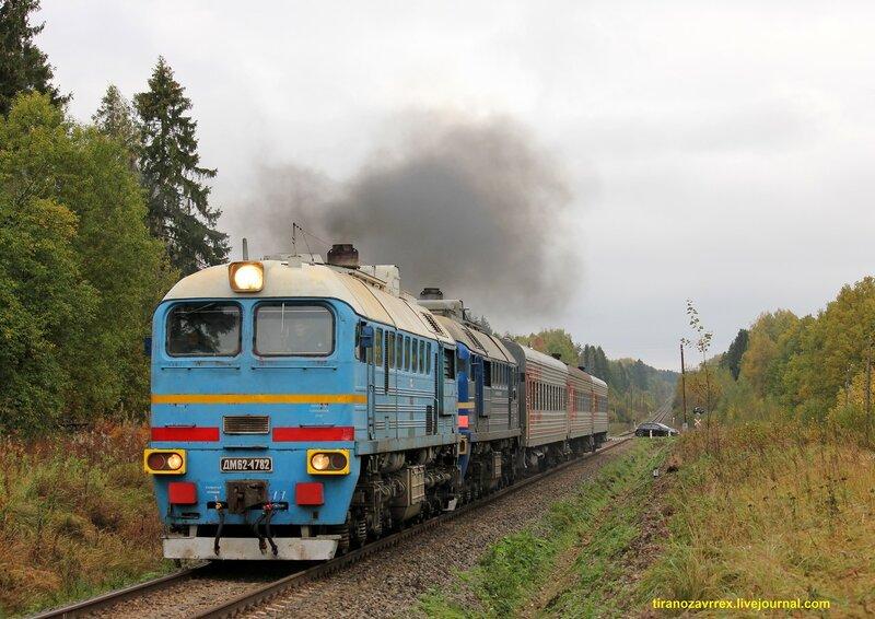 Поезд 6273/6274, Сонково — Савёлово под тепловозом ДМ62-1782 на перегоне МЮД - Кашин