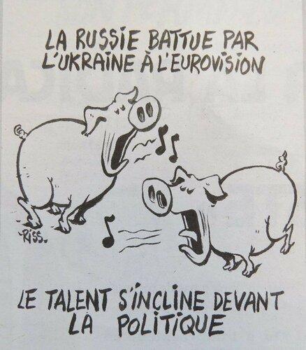 Charlie Hebdo выпустил карикатуру на итоги Евровидения 2016