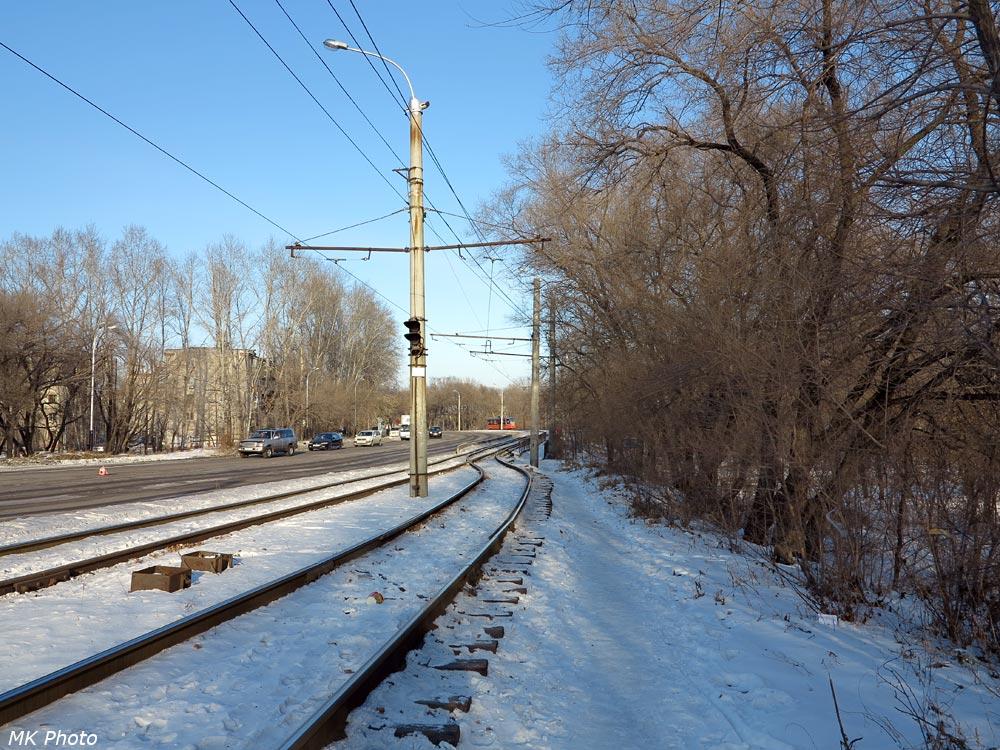 Сплетение трамвайных путей