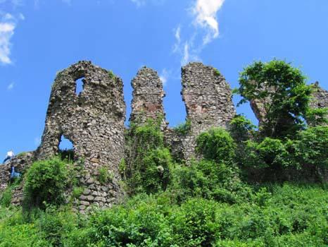 В развалинах Хустского замка волонтеры нашли таинственный подземный ход (фото)