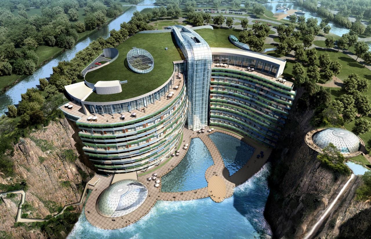 Китайцы все таки открыли отель в яме — Songjiang InterContinental