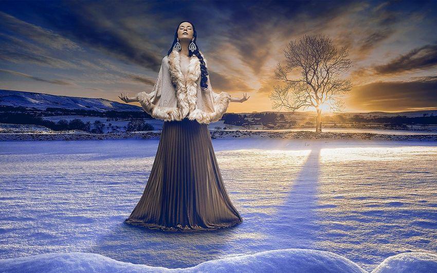 Новый год Сказка Девушка зима Картинки