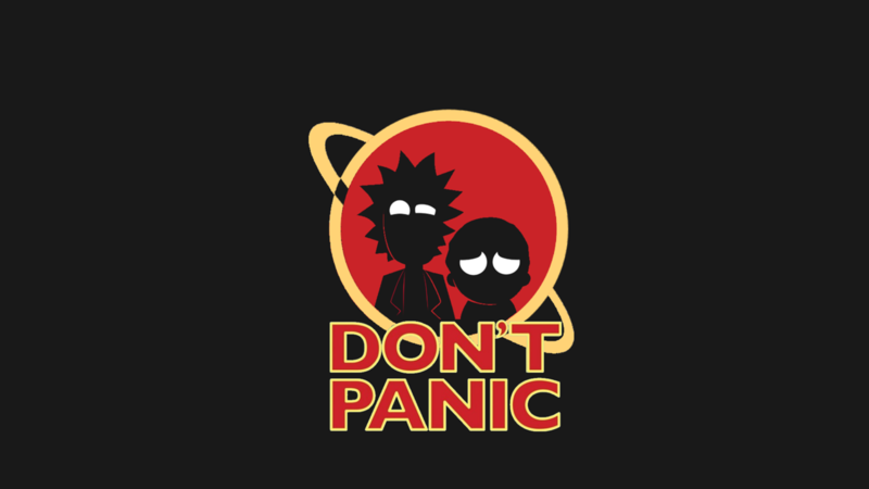 Rick and Morty Dont Panic.png