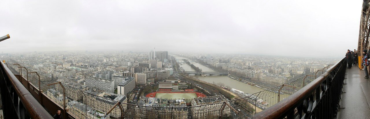Paris. View from Eiffel tower. Panoramic photo