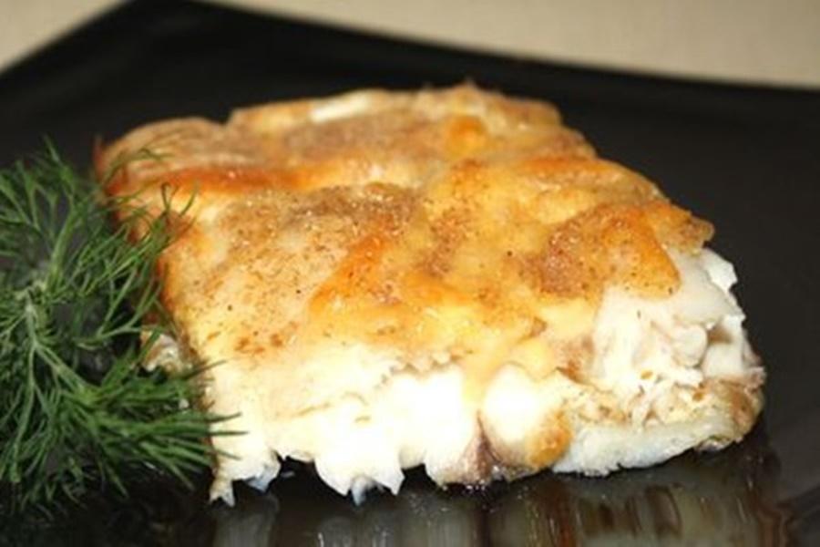 Рыба, запеченная в молочно яичном соусе