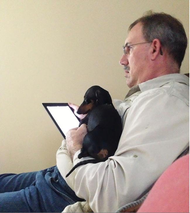 © eatmorechicken  Когда мызавели собаку, папа очень протестовал