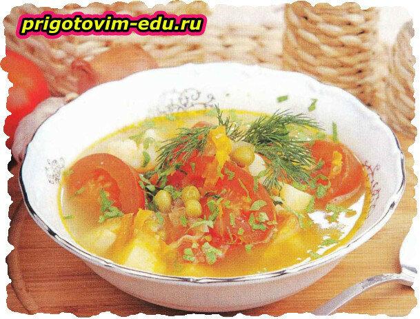 Вегетарианский суп (очень легкий супчик)