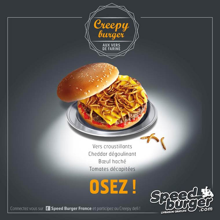 Creepy Burger - Speed Burger unveils a burger filled with insects for Halloween