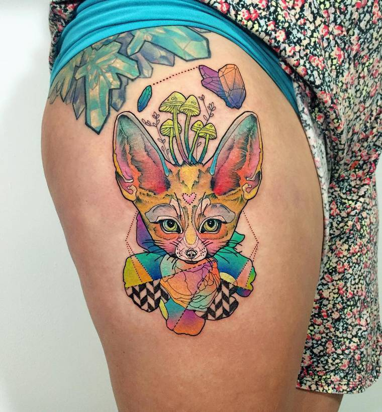 The ultra-colorful tattoos by Kshocs