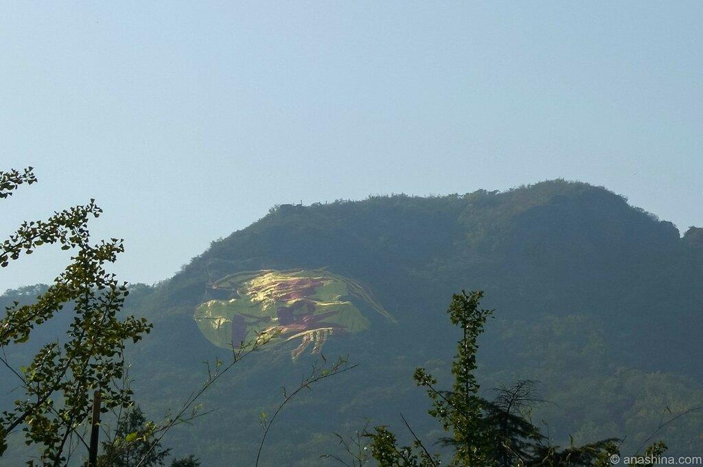 Иероглифы на склоне горы, Бадачу