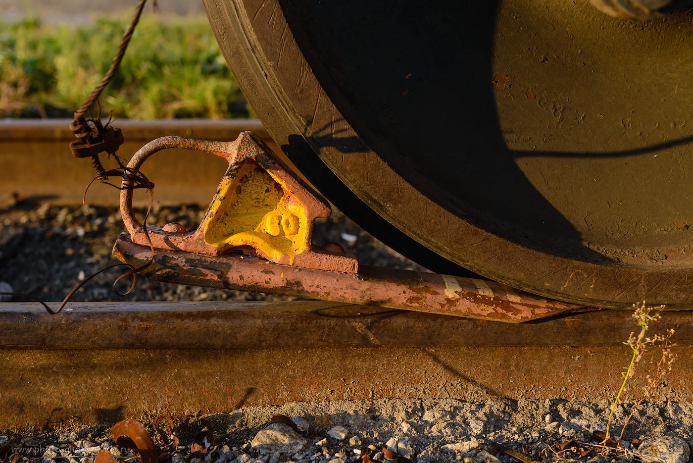 Фото 8. Башмак под колесом электровоза СС. Репортаж с похода в железнодорожный музей. 1/160, -0.33, 6.3, 720, 66.