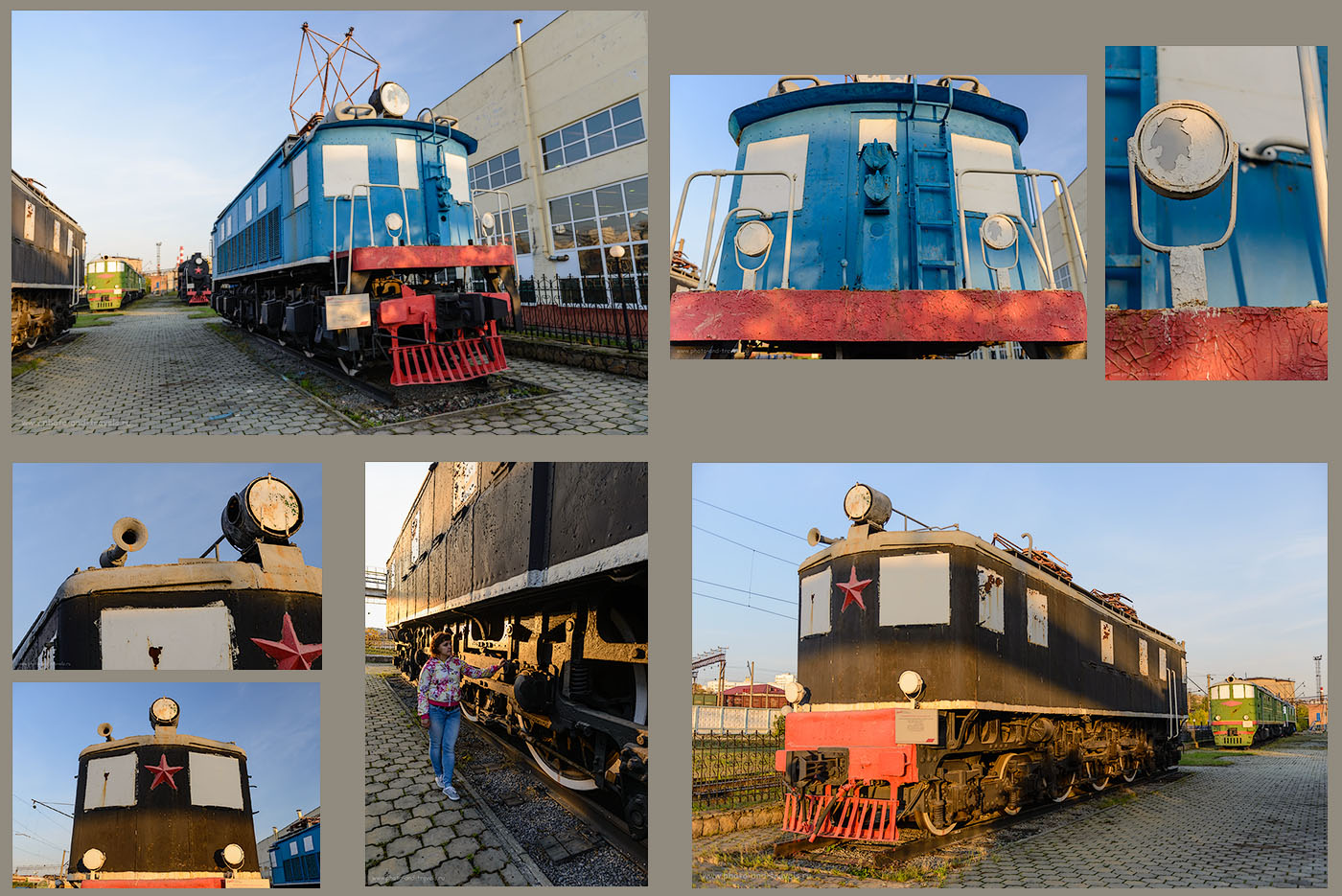 12. Электровоз ПБ-21 и ВЛ-19 в музее поездов в Екатеринбурге.
