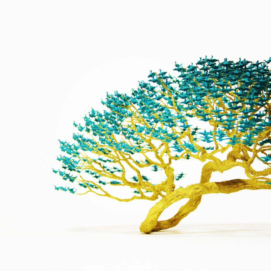 Amazing bonsai made of thousands of miniature origami