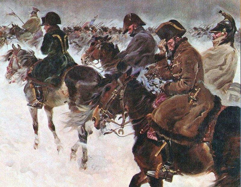 Отступление Наполеона из России (фрагмент) Ежи КОССАК.jpg