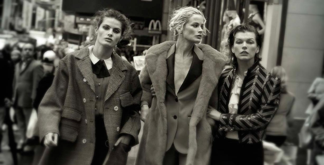 Walking by Peter Lindbergh - Vogue Italia october 2016