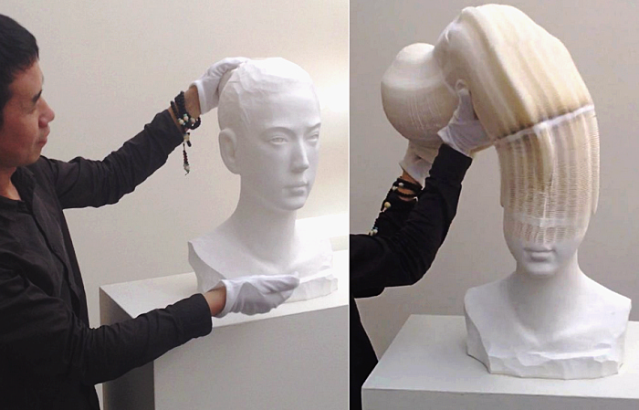 Бумажные скульптуры Ли Хунбо
