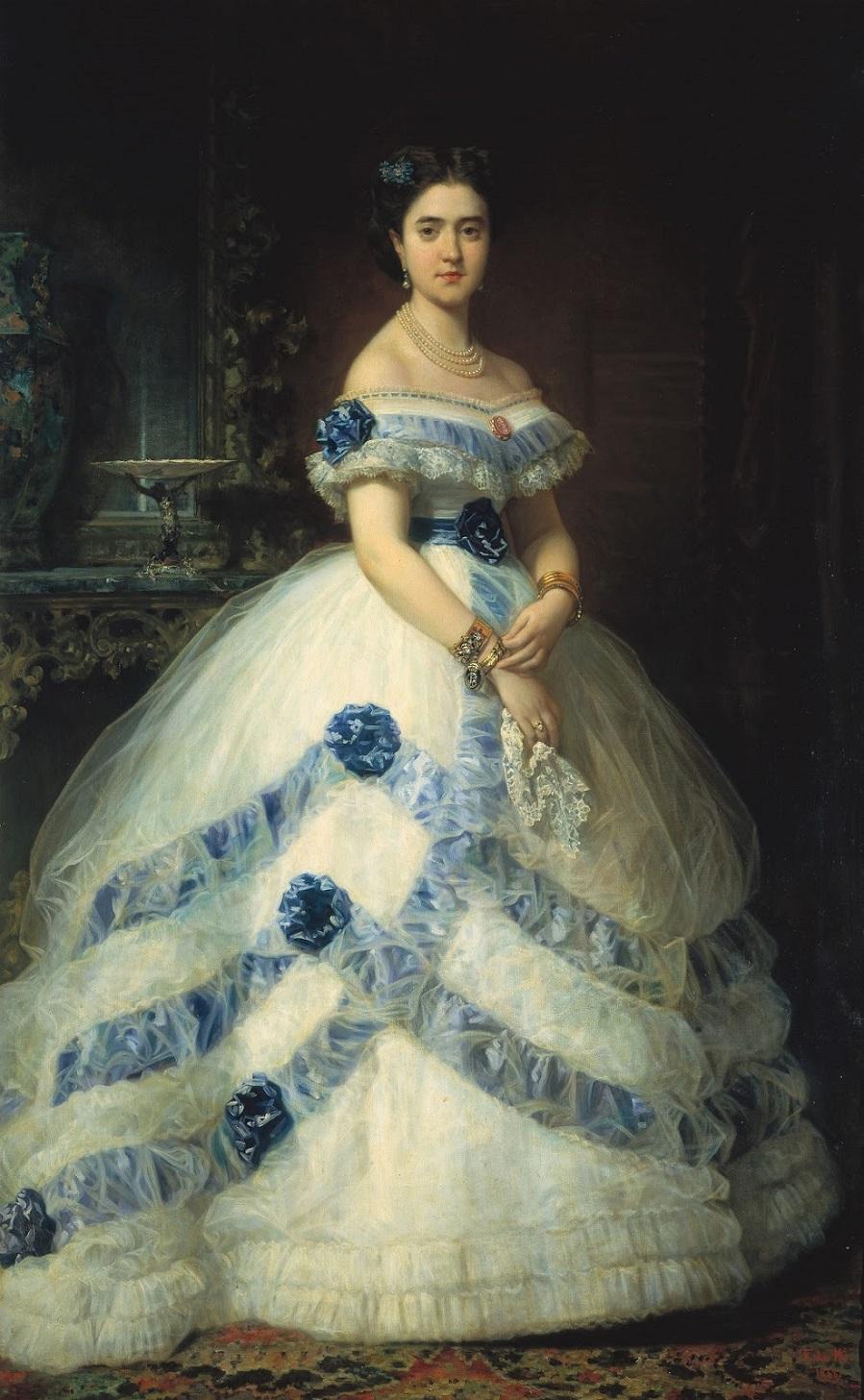 1862_Исабель Альварес Монтес, II герцогиня Кастро Энрикес (Isabel Alvarez Montes, II duquesa de Castro Enriquez)_202 х 126_х.,м._Мадрид, музей Прадо.jpg