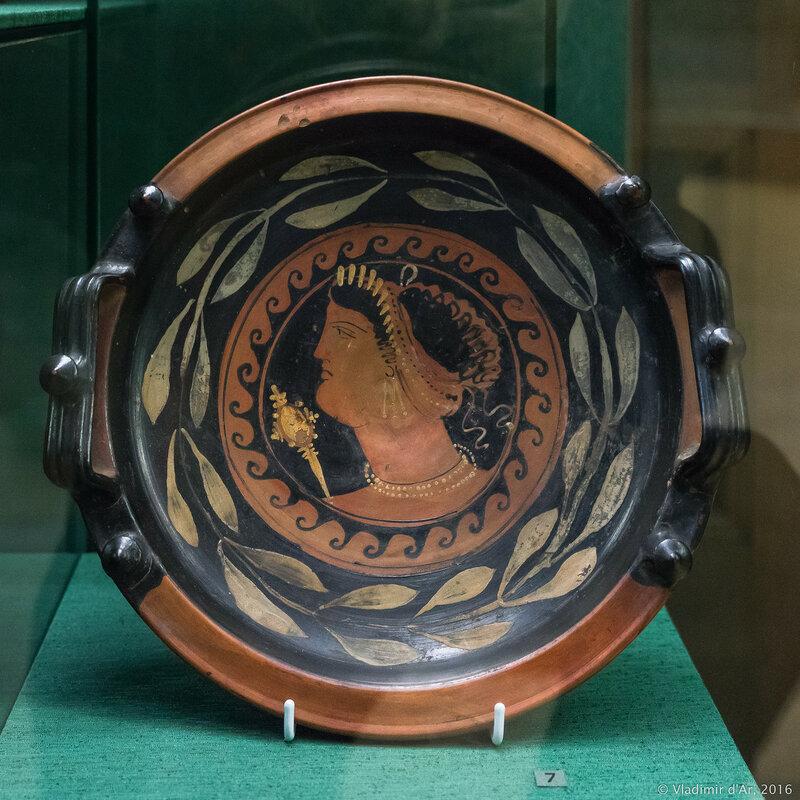 Блюдо краснофигурное. Южная Италия. Третья четверть IV в. до н.э.
